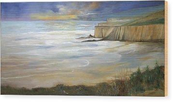 Beach On Highway One Wood Print by Max Mckenzie