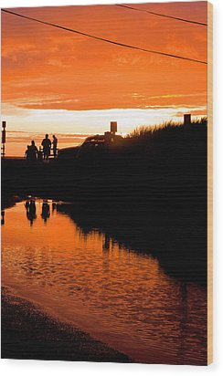 Wood Print featuring the photograph Beach Party by Michael Friedman