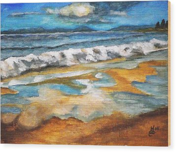 Beach Reflection Wood Print by Kim Selig