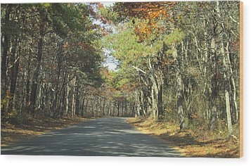Beach Road Wood Print
