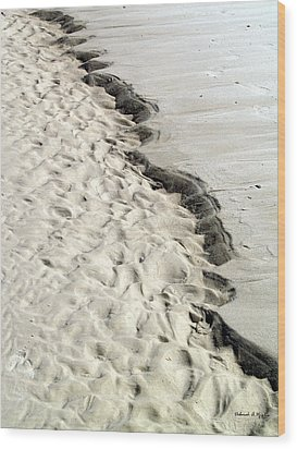 Beach Sand Wood Print by Deborah Hughes