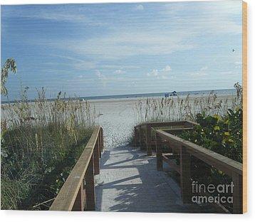 Beach Serenity Wood Print by Kaitlyn Roge