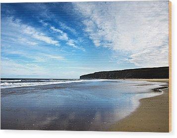 Beach Wood Print by Svetlana Sewell