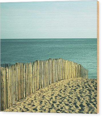 Beach Wood Print by SylvainCollet