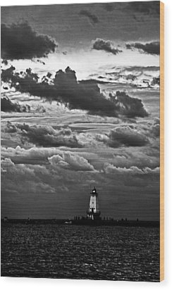 Beacon In The Clouds Wood Print by Randall  Cogle