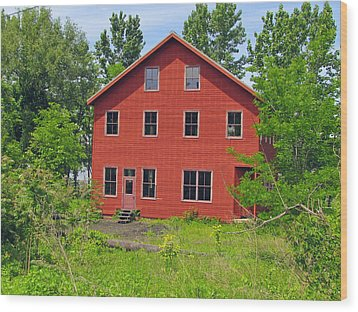 Beacon Red House Wood Print