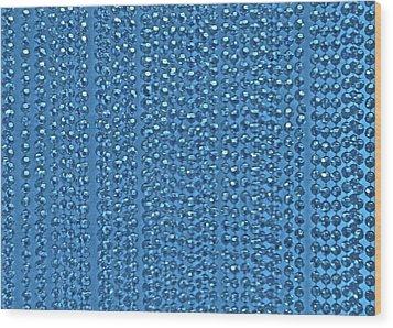 Beaded Blue Wood Print by James Mancini Heath