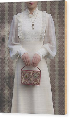 Beaded Handbag Wood Print by Joana Kruse