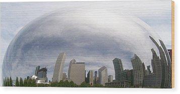 Bean Skyline Wood Print