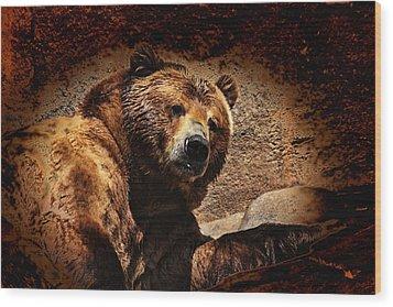 Bear Artistic Wood Print by Karol Livote