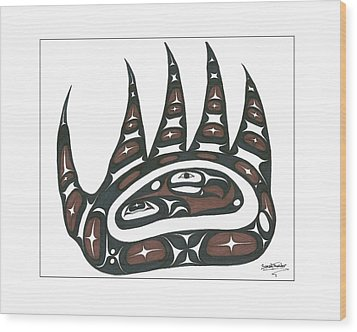 Bear Claw Brown Wood Print by Speakthunder Berry