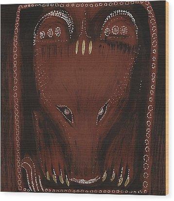 Bear Wood Print by Sophy White