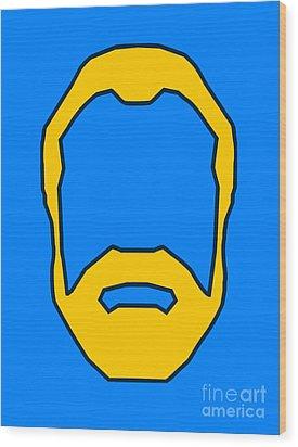 Beard Graphic  Wood Print by Pixel Chimp