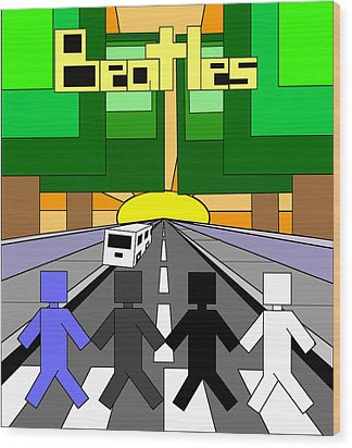 Beatles Abby Road Wood Print by Brian Roberts