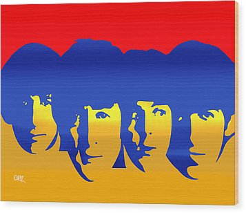 Beatles Pop Wood Print by Carvil
