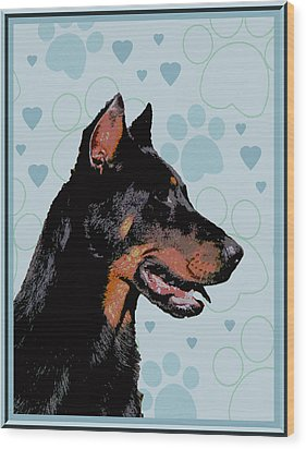 Beauceron Wood Print by One Rude Dawg Orcutt