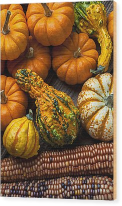 Beautiful Autumn Wood Print by Garry Gay