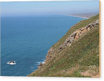 Beautiful Coastline Of Point Reyes California . 7d16017 Wood Print by Wingsdomain Art and Photography