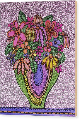 Beautiful Floral Imagination  Wood Print by Gerri Rowan