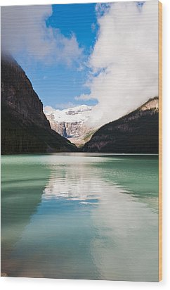 Beautiful Lake Louise Wood Print by Cheryl Baxter
