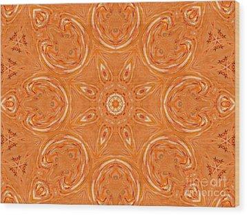 Beautiful Orange Wood Print by Jeannie Atwater Jordan Allen