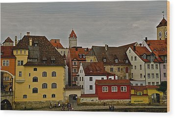 Beautiful Regensburg Wood Print by Kirsten Giving