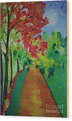 Beautiful Sunday  Wood Print by Jalal Gilani