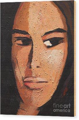 Beautiful Woman Wood Print by Lutz Baar