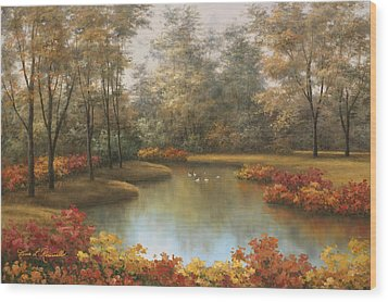Beauty Of Autumn Wood Print
