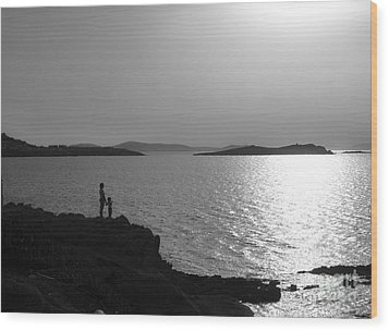 Beauty Of Mykonos Wood Print by Leslie Leda