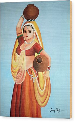 Beauty With Simplicity Wood Print by Tanmay Singh