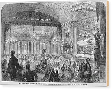 Beaux Arts Ball, 1861 Wood Print by Granger