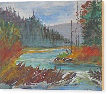 Beaver Dam Wood Print