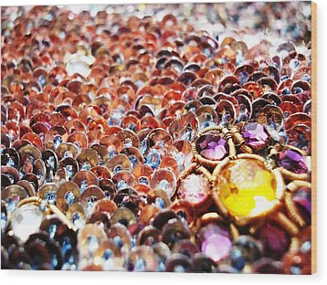 Bed Of Sequins Wood Print by Sumit Mehndiratta