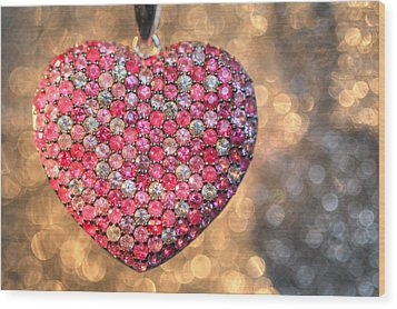 Bedazzle My Heart Wood Print
