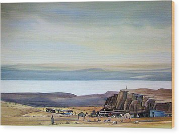 Bedouin Camp Above The Dead Sea Wood Print by Matthew Chatterley