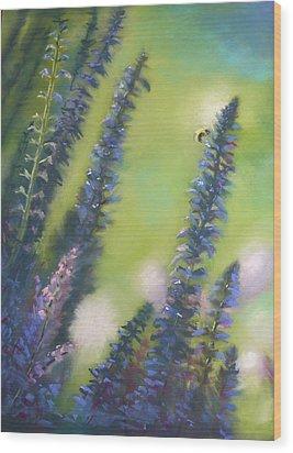 Bee Still #2 Wood Print by Judy Albright