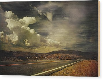 Been Down This Road Before Wood Print by Laurie Search