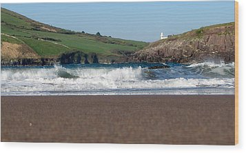Wood Print featuring the photograph Beenbane Beach by Barbara Walsh