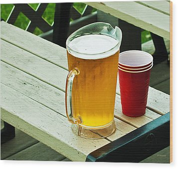 Beer 30 Now Wood Print by Edward Peterson