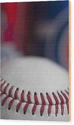 Beer And Baseball Wood Print by Alan Look