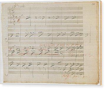 Beethoven Manuscript, 1806 Wood Print by Granger
