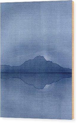 Before The Moonrise Wood Print by Hakon Soreide