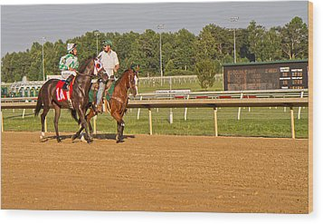 Before The Race Wood Print by Betsy Knapp