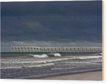 Wood Print featuring the photograph Before The Storm by Laurinda Bowling