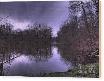 Before The Storm Wood Print by Paul Ward