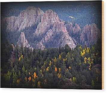 Wood Print featuring the photograph Beginning Of Mountain Fall by Michelle Frizzell-Thompson