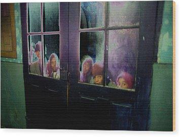 Behind The Door Wood Print by Emanuel Tanjala