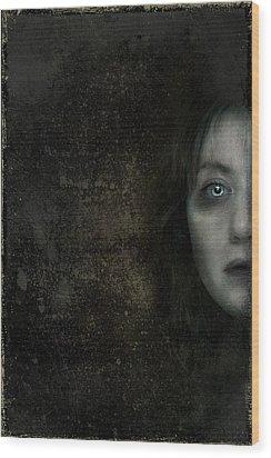 Behind The Door Wood Print by Hazel Billingsley