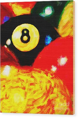 Behind The Eight Ball - Vertical Cut Wood Print by Wingsdomain Art and Photography